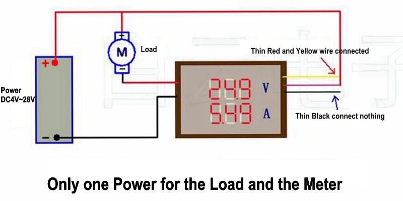 Digitális DC 200V 0-10A voltmérő ampermérő piros, kék LED-es - Mérőműszerek - Fénykép 5