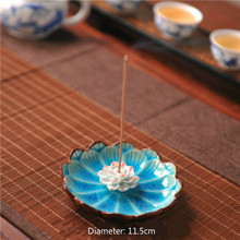 Ceramic Incense Sticks Burner Zen Plate Holder Jingdezhen Base C
