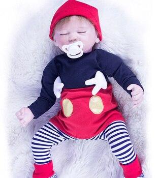 "19"" 47cm Silicone Reborn Super Baby Lifelike Toddler Baby Bonecas Kid Doll Bebes Reborn Brinquedos Reborn Toys For Kids Gifts"