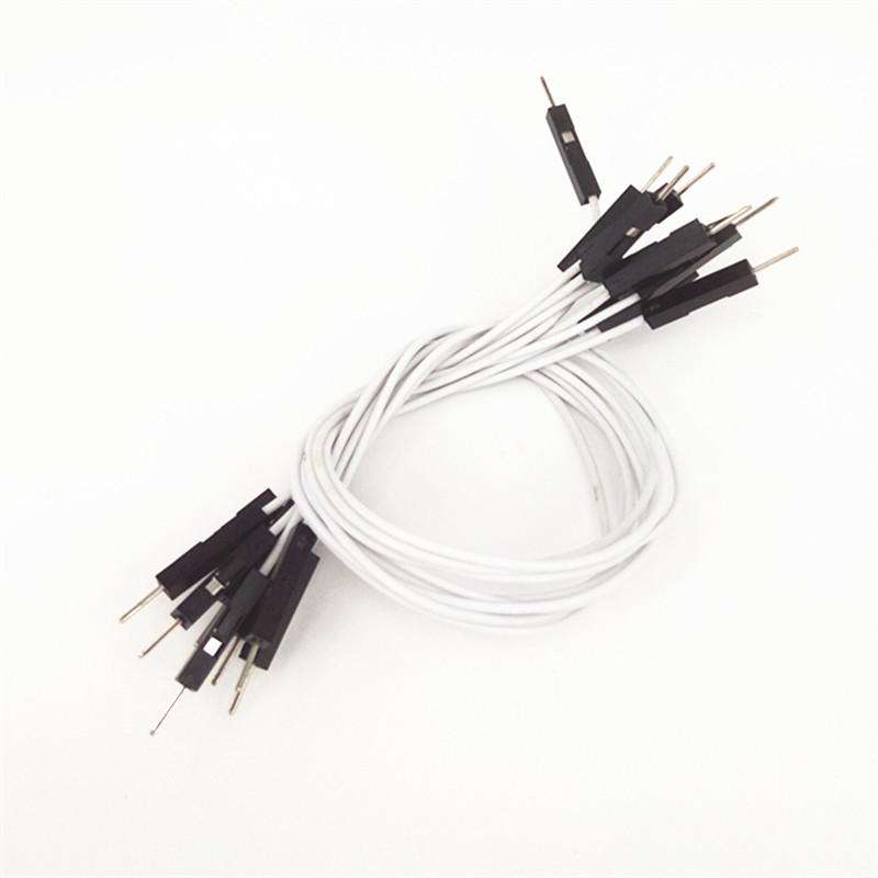 50pcs/lot 1P-1P Male To Male DuPont Line Bread Board Line Connect Wire 1PIN 20cm M-M Color Jumper Wire