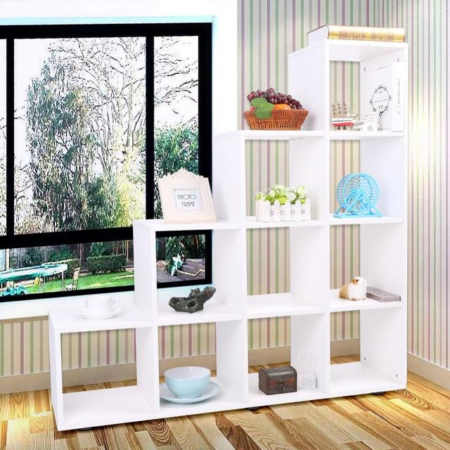 diy 10 grids duurzaam stap boekenkast opslag kubus display plank moderne houten boekenplank boekenkast home office