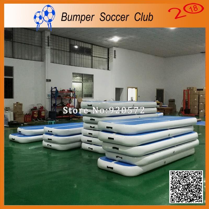 Livraison gratuite 2*1 m tapis gonflable gonflable de gymnastique de voie d'air de Trampoline de voie de dégringolade
