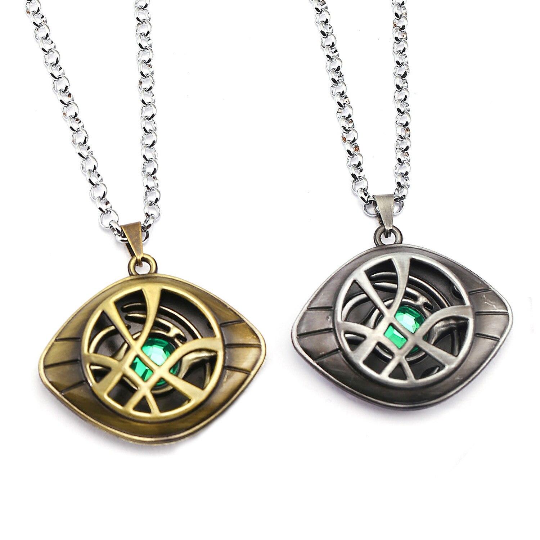 Marvel Avengers Doctor Strange Infinity Time Stones Necklace Keychain Figure Model Toys Doctor Strange Necklace
