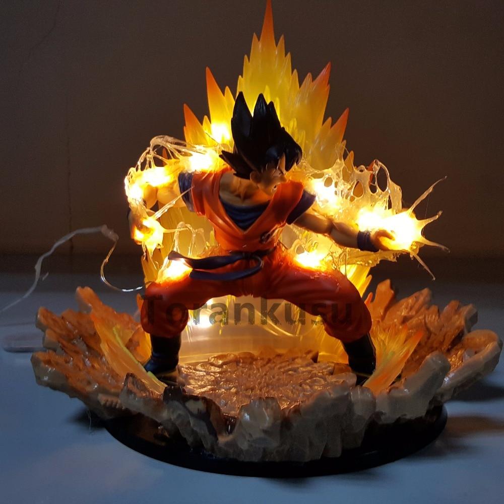 Dragon Ball Z fils Goku Super Saiyan puissance jusqu'à PVC figurines 170mm Anime Dragon Ball Figuarts zéro Super bricolage jouet Goku personnalisé