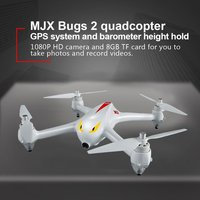 MJX B2C 2.4G 4CH RC drone with 1080P Camera Altitude Hold Automatic return RC Quadcopter with GPS intelligent orientation contro
