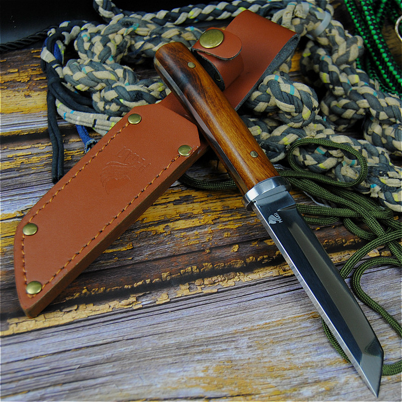 Image 5 - PEGASI Japanese 9CR18MOV outdoor self defence fishing knife jungle hunting knife outdoor sharp tactical knife + leather cover-in Knives from Tools