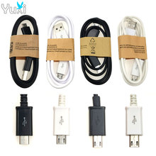 цена на YuXi 1M USB Gamepad Charging Cable USB 2.0 to Micro USB Game Controller Power Charger Cable Cord Wire for Sony PS4 Xbox One