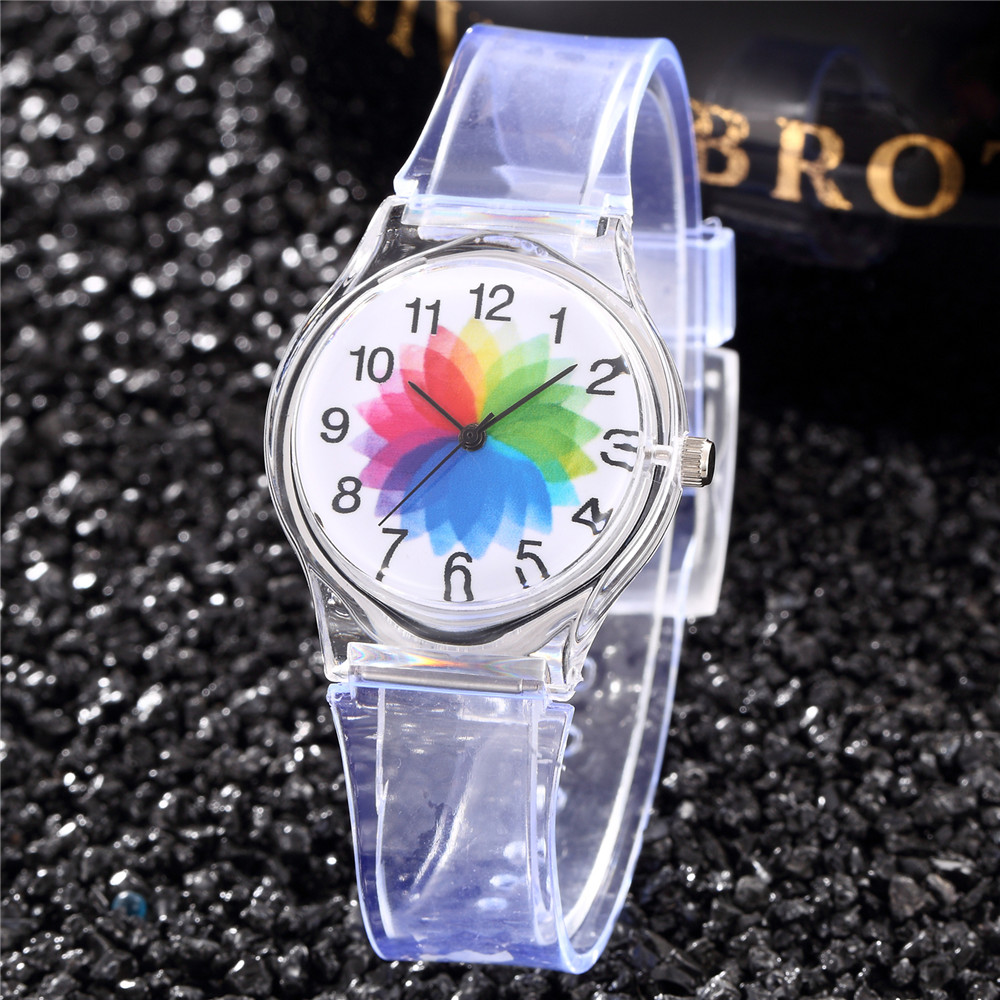 Ster Kids Watch Transparent Student Clocks Casual Dress Saats Simple Sport Montre Femme Rejore Clover Enfants Hour Women Hodinky