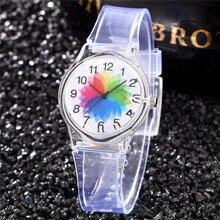Ster Kids Watch Transparent Student Clocks Casual Dress Saat