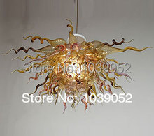 Special Shape Art Glass Lighting Flower Chain Hanging Chandelier