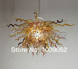 Special Shape Art Glass Lighting Flower Hanging LED Chandelier