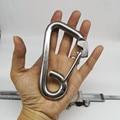 4 PCS 120mm Silber 304 Edelstahl Karabiner Frühling Camping Klettern M12 Snap Haken-in Hebewerkzeuge & Zubehör aus Werkzeug bei