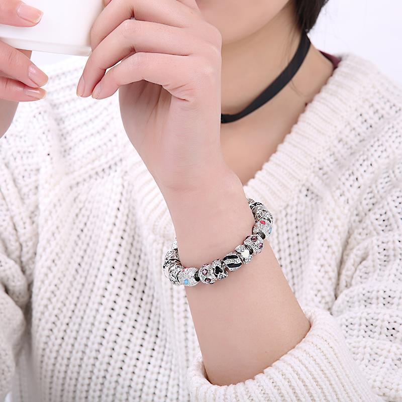 Βραχιόλια για τις γυναίκες Ασημένια - Κοσμήματα μόδας - Φωτογραφία 2