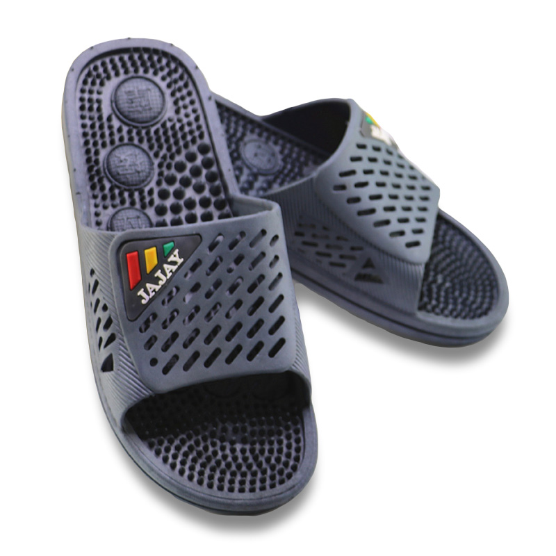 d413aa27b8a New Summer Men Massage Slippers Brand PVC Flat Non-Slip Slimming Bathroom  Slides Home Floor Sandals Casual Mens Plus Beach Shoes