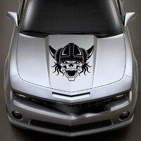 גולגולת ויקינג מלחמת מנוע ויניל מדבקות חלון מדבקת מכסה המנוע ואן רכב משאית לרכב SUV