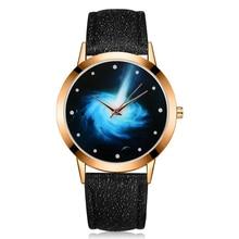 2017 JW Brand Quartz Watch Women Rose Gold Galaxy Dial Clock Wristwatches Womens Fashion Casual Crystal Sport Dress Watches