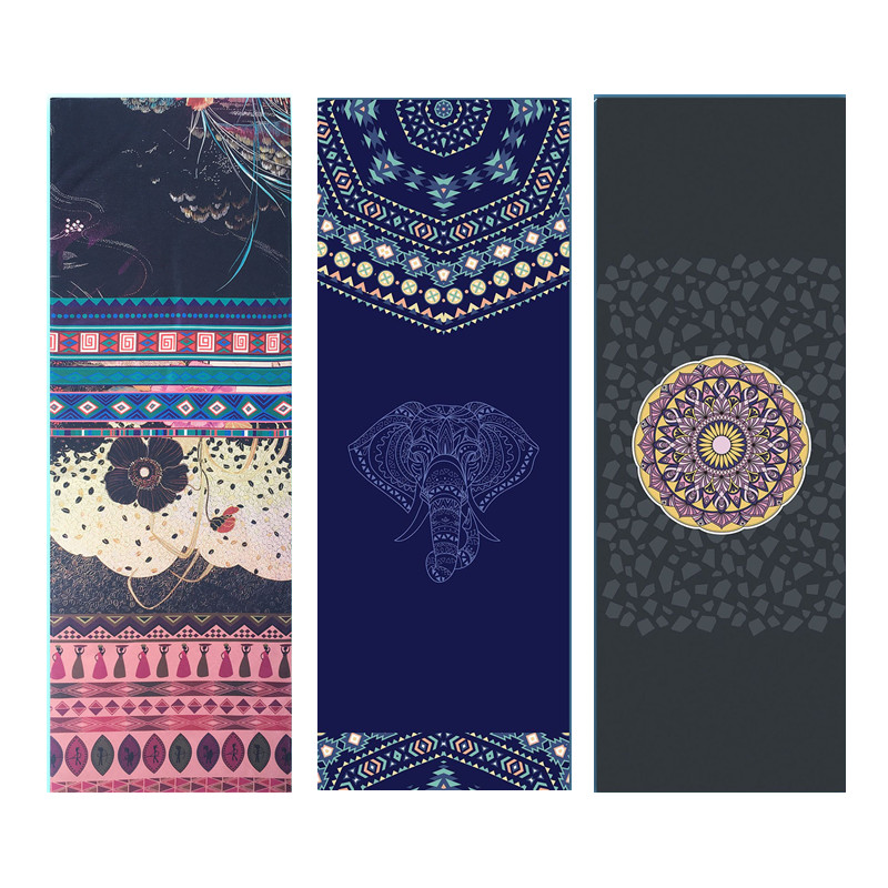 Yoga Mat Handdoek Microfiber Dubbelzijdig Gedrukt 185*65 Cm Zweet-absorberend Antislip Yoga Handdoek Pilates Mat Cover Yoga Deken