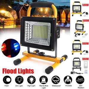 Image 1 - 500/800/900W LED Portable Rechargeable projecteur étanche projecteur à piles lampe de travail en plein air Camping