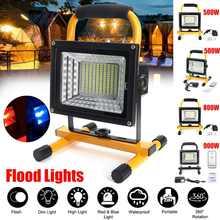 500/800/900W LED przenośny akumulator reflektor wodoodporny reflektor zasilany z baterii reflektor praca na zewnątrz lampa Camping