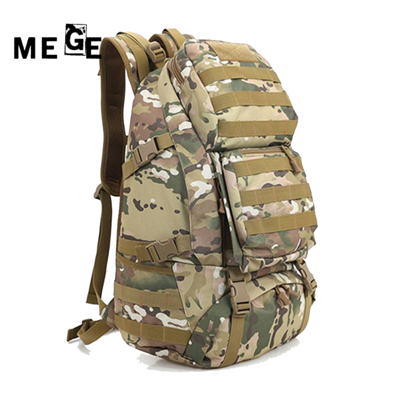 MEGE Unisex Multifunctional Military Camouflage Bags, Army Trekking Waterproof Oxford Backpack Wear-resisting Large Capacity Bag