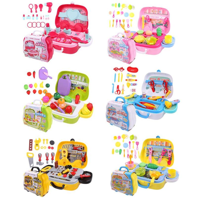 Children Doctor Nurse Medical Equipment Pretend Play Role Games Toys Set Educational Toy Accessories Portable Suitcase