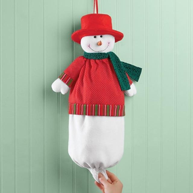 christmas snowman garbage bag santa claus xmas party decor christmas garbage storage bag party decoration supplies - Christmas Tree Garbage Bag