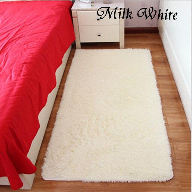 Free Shipping Milk White Rectangle Bath Mat Bedroom Carpet 40x60/50x80/50x160/80x160cm Doormat Absorbent Non-Slip Prayer Mats