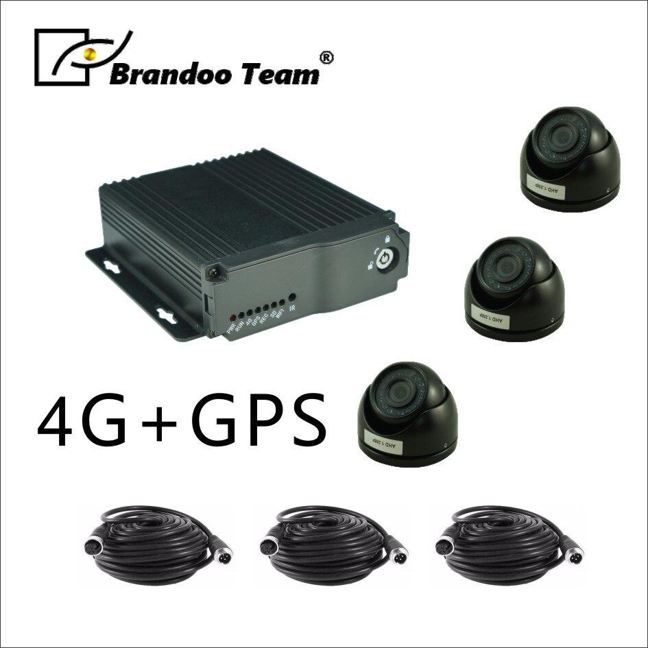 Бесплатная доставка 4G удаленного просмотра и gps отслеживания Мобильный DVR системы для такси, автобус, грузовик используется