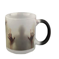 New Design The Walking Dead Mug Color Changing Heat Sensitive Ceramic Coffee Cup Surprice Gift For