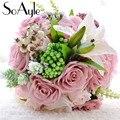 SoAyle venta Caliente Wedding Bouquet 2016 ramos de novia 23 cm * 28 cm 0.6Kg hojas suculentas flores flores de la boda