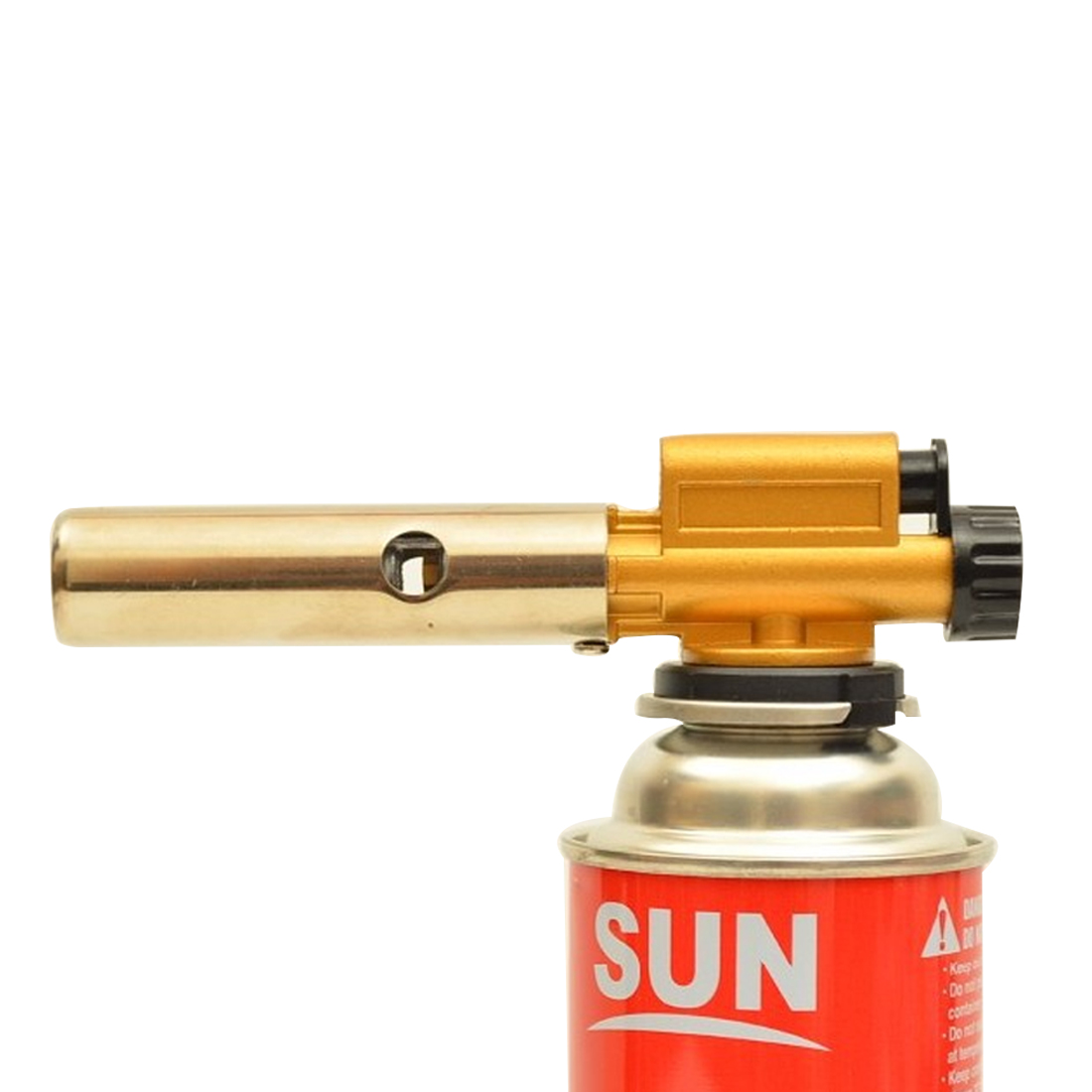 Butane Gas Burner Ignition Copper Flame Gun Lighter Tool Lighter For Outdoor Camping Picnic Cooking Welding Equipment horizontal stripe pattern butane gas lighter w keychain silver yellow