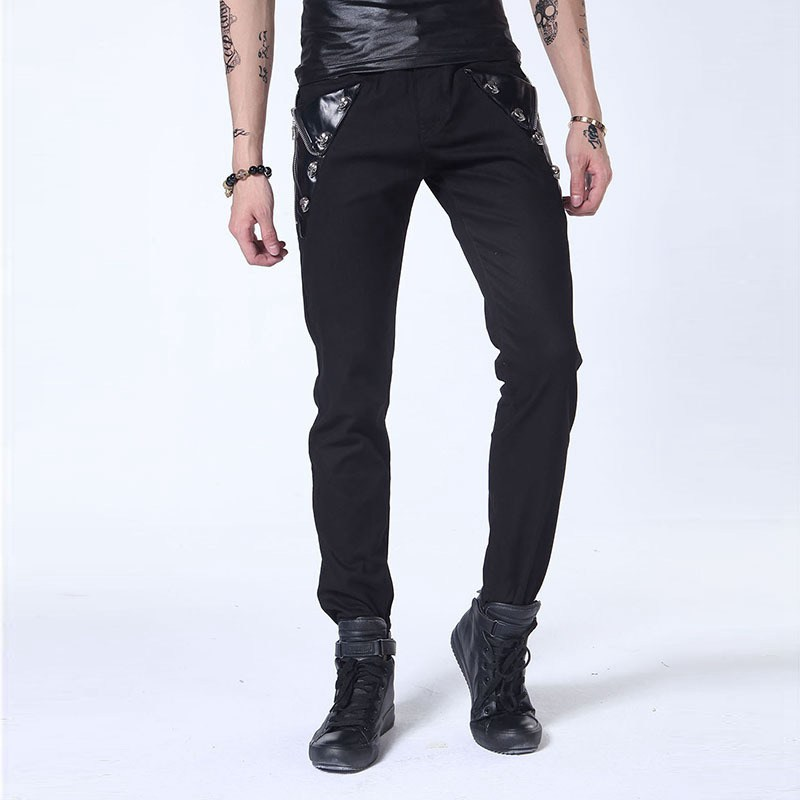 #1516 White jeans Punk Skinny jeans men Hip hop Slim fit jeans homme Autumn 2016 Moto Pantalones hombre Motorcycle jeans