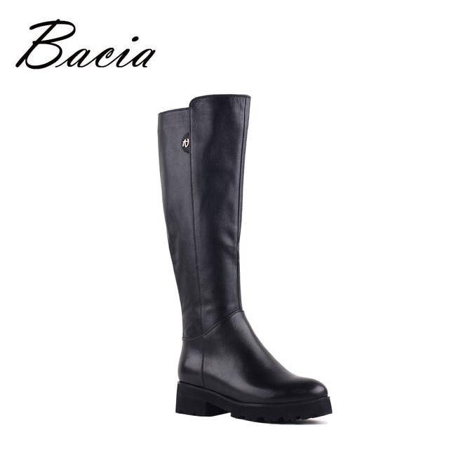 d468947803d3 Bacia новые ботинки из натуральной кожи до колена Зимние сапоги с высоким  голенищем для Для