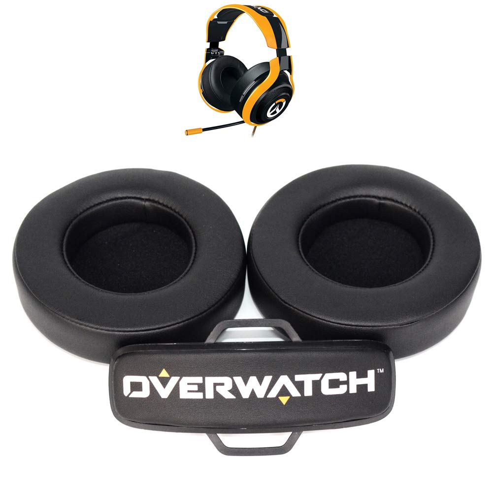 Replacement Ear pads cushion sponge headband foam earpad for Razer ManO'War 7.1 / Overwatch Tournament Edition headphone headset|Earphone Accessories| |  - title=
