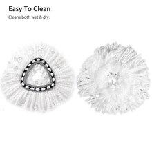 Бесплатная доставка 360 degress Spin Mops Head сменные головки легко чистить вращающаяся форма для Vileda O-Cedar Mops