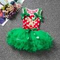 Детские Девушки Рождество Одежда Красный Костюм Санта Малышей Наряды Принцессы Платье Балетной Пачки Детей Младенческая Девушки Платье рапунцель
