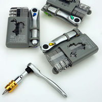 SET C , Special groove screwdriver , Multifunctional Folding wrench set , mini Ratchet handle wrench , maintenance tools