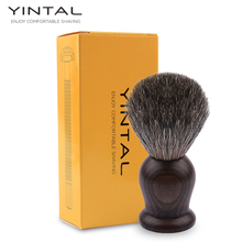 Badger Hair Shaving Brush Hand-made Badger Silver-tip Brushes Shave Tool Shaving Razor Brush 24mm yaqi two band badger hair brushes for razor