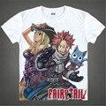 Классический Аниме Fairy Tail Нацу Футболки DragneelLucy HeartphiliaErza Алые Символов 3D футболка Мужская Повседневная футболки