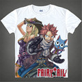 Clássico Anime Natsu Fairy Tail Camisetas DragneelLucy HeartphiliaErza Scarlet Personagens 3D t shirt Dos Homens Casual t-shirts t