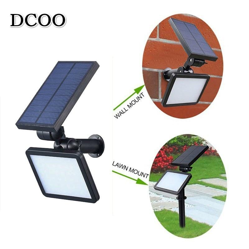 dcoo 48led sensor de movimento energia solar projetor jardim gramado paisagem lampada iluminacao ao ar livre