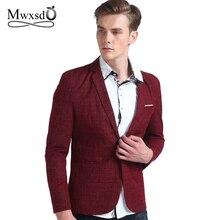 Mwxsd brand spring autumn men casual Blazer suit mens cotton suit Jacket slim fit Men's classic smart casual blazer for male