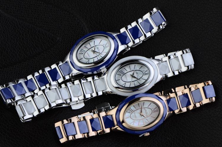 MELISSA Real Ceramic Women Bracelet Watches Brand Vogue Girls Dress Wrist watch Quartz Relojes Oval Vintage Relogio Montre femme