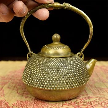Copper kettle pot teapot pearl copper brass bronze antique brass trumpet pot crafts