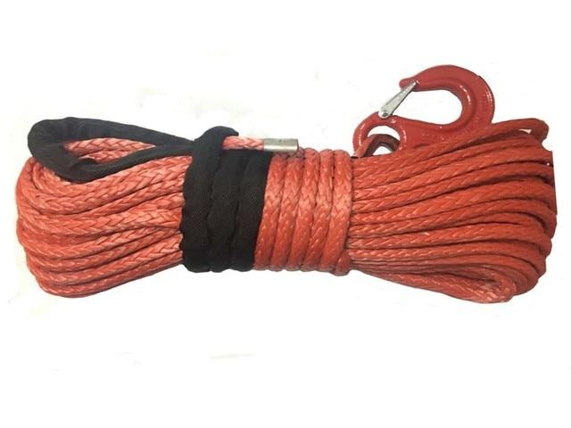 12mm x 30m sentetik vinç Hattı kablo halat ile kanca (ATV UTV 4X4 4WD KAPALı  ROAD)