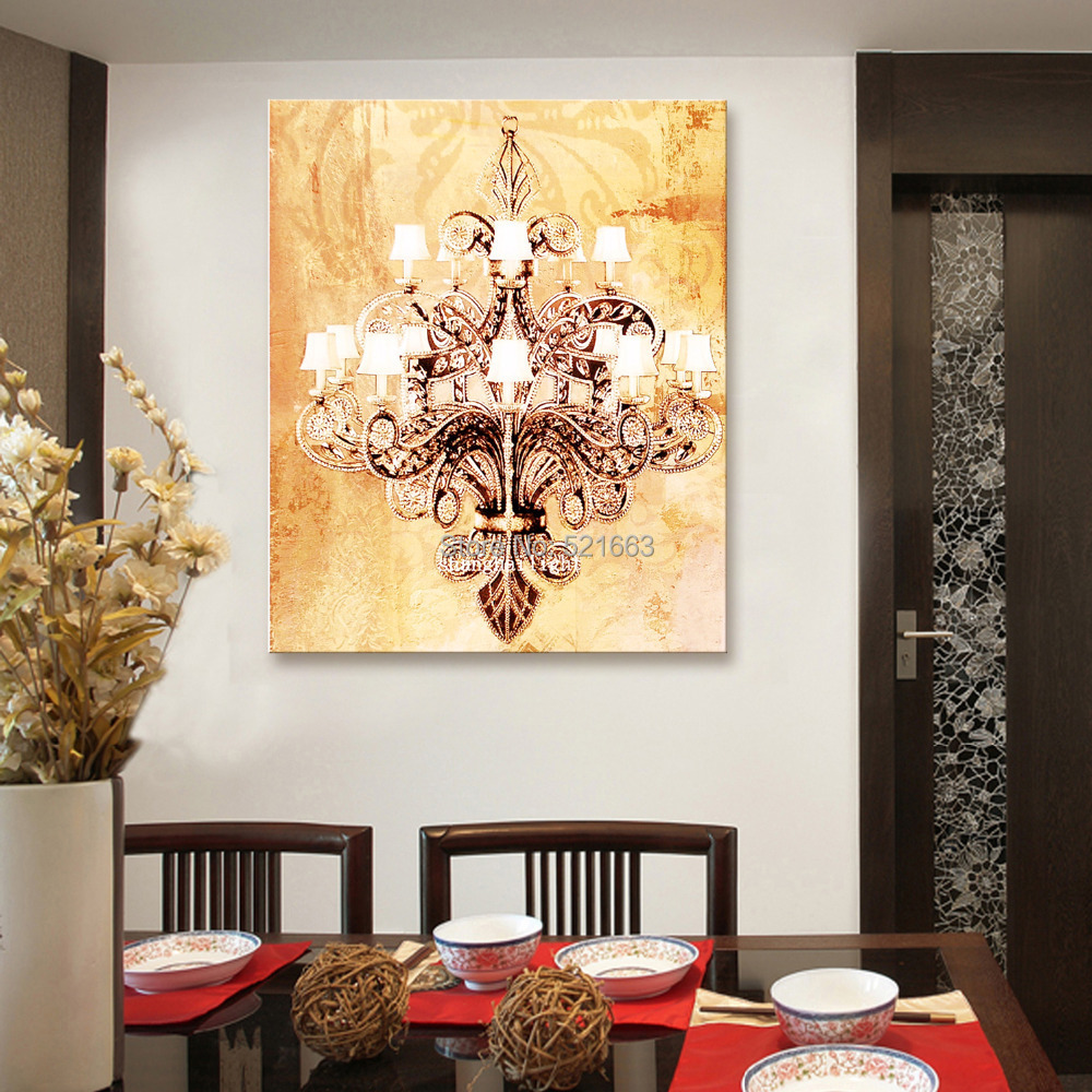 Free Shipping Stretched Canvas Prints A Chandelier LED Flashing ...