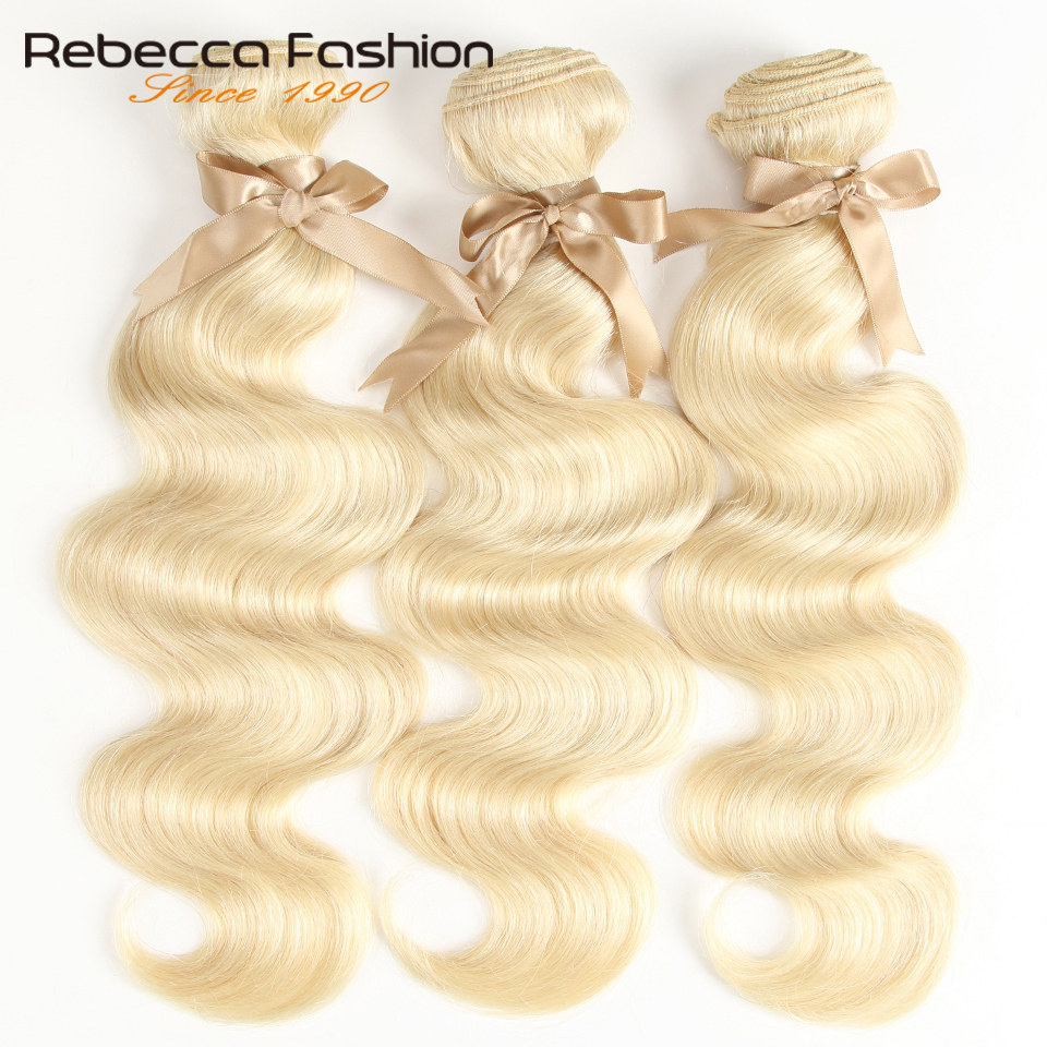 Image 2 - Rebecca 613 Honey Blonde Bundles Body Wave Brazilian Hair Weave Bundles 100% Remy Hair Extensions 1/3/4 Bundles 10 to 26 Inches-in Hair Weaves from Hair Extensions & Wigs