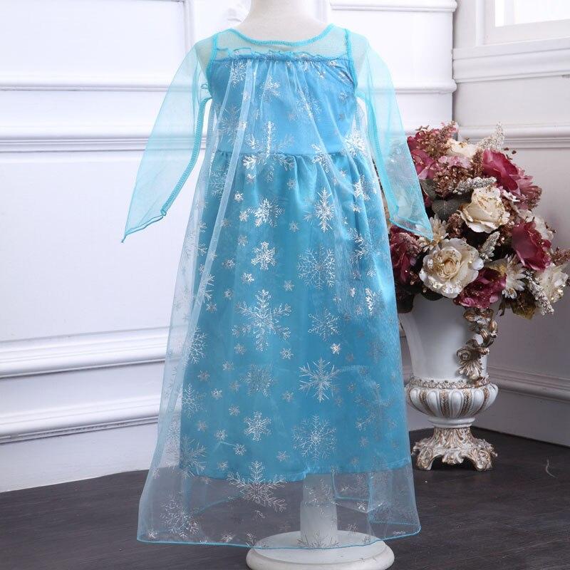 HTB1J0U5bffsK1RjSszgq6yXzpXaY 2019 New Elsa Dress Girls Summer Dress Princess Anna Cosplay Costume Dresses For Girl Princess Vestidos Menina