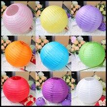 10pcs/lot 16''(40cm) Chinese Paper Lantern Lamp Festival Wedding Party Supplies Decoration White Round Mix Color Lanterns 2017