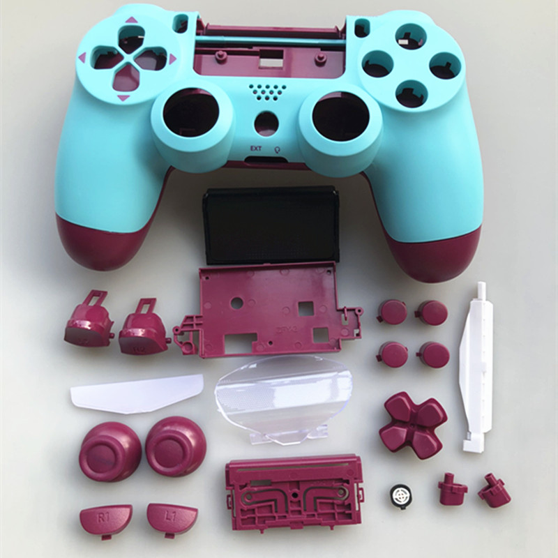 Replacement Full shell and buttons <font><b>mod</b></font> kit For jds 040 JDM 040 DualShock 4 PlayStation 4 <font><b>PS4</b></font> Pro Controller Housing Smooth <font><b>Case</b></font> image